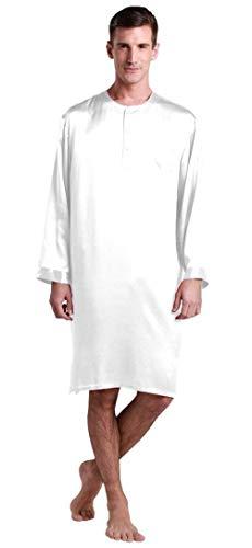 Ligero Sólidos De Mamá Colores Blanco Moda Y Manga Larga Pijamas Hombres Para Primavera Camisa Baño Verano Salón Pijama apH474qn