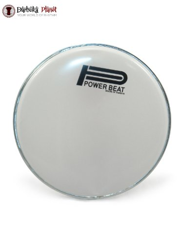 Power Beat Drum Head For Arabic Musical Instrument 8.75'' Darbuka/Doumbek /0.5'' Collar (White) by Power Beat
