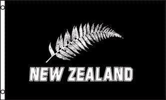 New Zealand Silver Fern Flag 5 X3 Garden Outdoor