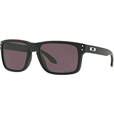 Oakley Men's OO9102 Holbrook Polarized Square Sunglasses, Matte Black/Prizm Grey, 57 mm