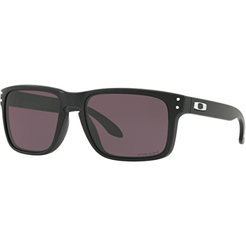 Oakley Men's Holbrook Non-Polarized Iridium Square Sunglasses, Matte Black, 57.0 - Holbrook Polarized Sunglasses Oakley