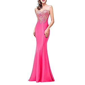 Aiserkly Long Evening Dress Women Sleeveless Cocktail Dress Formal Dresses High Waist Party Ball Gown Slim Fit Backless…