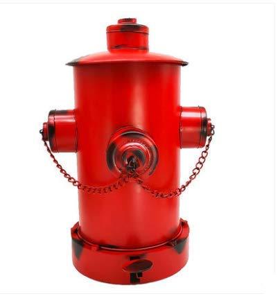 DSSK Poubelle avec Couvercle Maison Salon Vieux Retro Industriel Forme De Bouche DEolienne Rouge