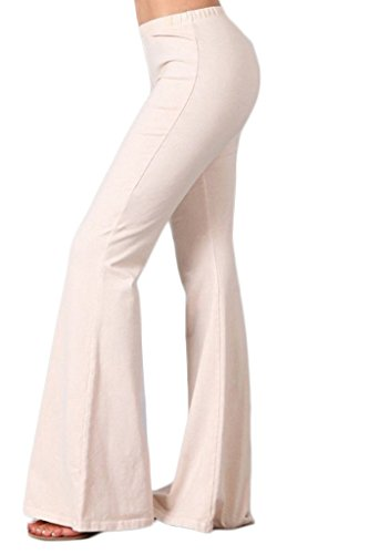 (Zoozie LA Women's Bell Bottoms Stretch Nude 1X Also fits 2X)