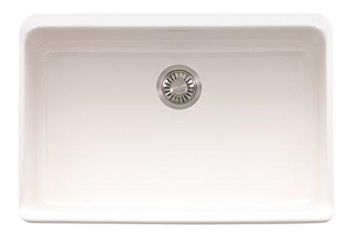 Franke Manor House Drop in/Farmhouse Fireclay Kitchen Sink MHK110-28WH White, 27