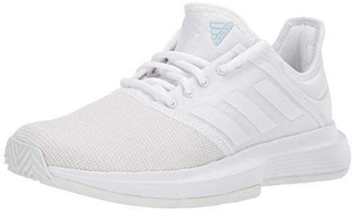 adidas Women's GameCourt Tennis Shoe, White/Blue Tint, 7.5 M US