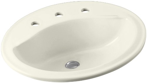 Sterling 442008-96 Sanibel Oval Lavatory, Biscuit - Lavatory Sink Biscuit