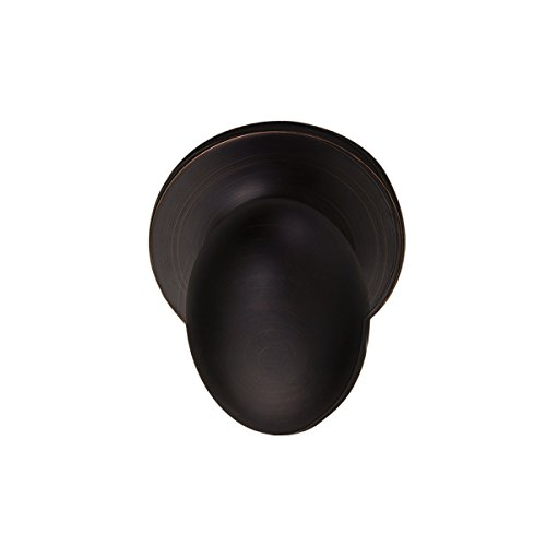Pearson Collection Egg Style Non Latching Dummy Door Knob Lock, Oil Rubbed Bronze - Small Egg Knob
