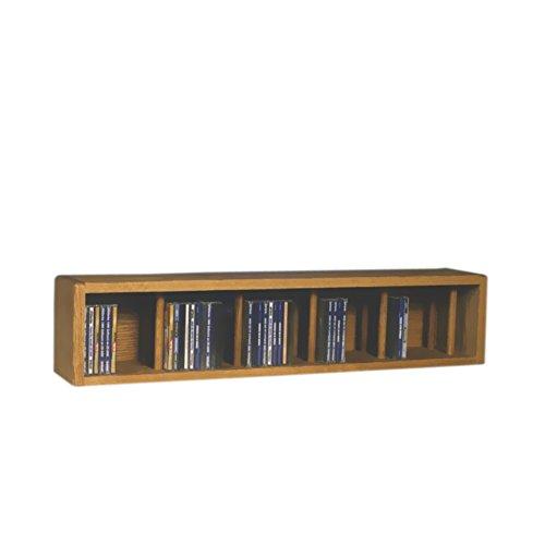 Cdracks Media Furniture Solid Oak Desktop or Shelf CD Cabinet Capacity 67 CDs Honey Finish