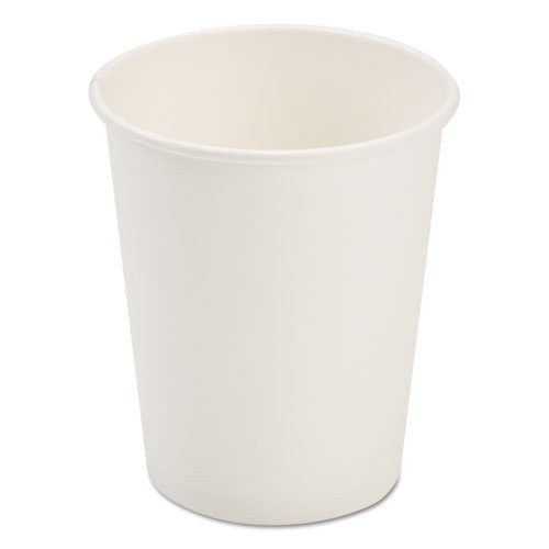 Dopaco Paper White - Dopaco Paper Hot Cups, 8 Oz, White, 50/bag, 20 Bags/carton