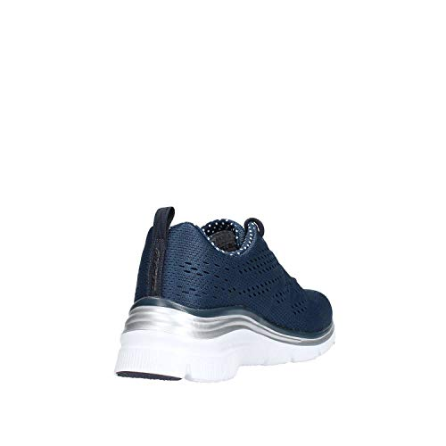 Fashion Skechers Blu Donna Bianco Piece Statement Fit Moda Sneaker alla dwxpfw