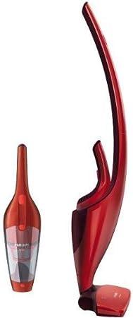 Philips FC6161/04 - Daily DUO Rojo. Aspirador 2 en 1 Recargable. 16,8V.Tiempo de Carga