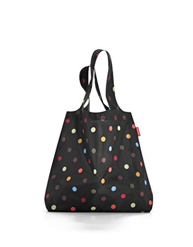 reisenthel Mini Maxi Shopper, Foldable Reusable Shopping Tote with Elastic Band, Dots by reisenthel (Image #2)