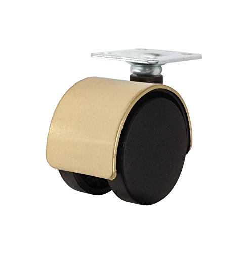 Twin-Wheel-Caster-Solutions-TWHN-50N-P02-BR-2-Diameter-Nylon-Wheel-Hooded-Non-Brake-Caster-with-Top-Plate-15-x-15-Plate-1-x-1-Bolt-Hole-Pattern-110-lb-Capacity-Range