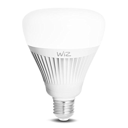 Bombilla LED WiZ inteligente con conexión WiFi, G100 E27, luz blanca. Regulable, 64.000 tonos de blanco. Funciona con Amazon Alexa y Google Home.
