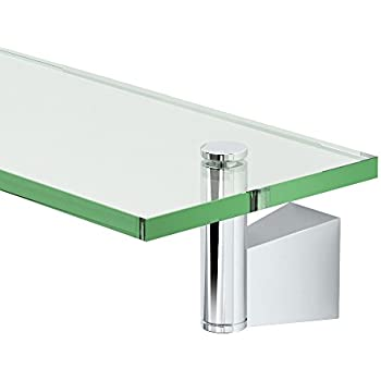 Gatco 4716 Bleu Glass Shelf, Chrome - Touch On Bathroom Sink Faucets ...