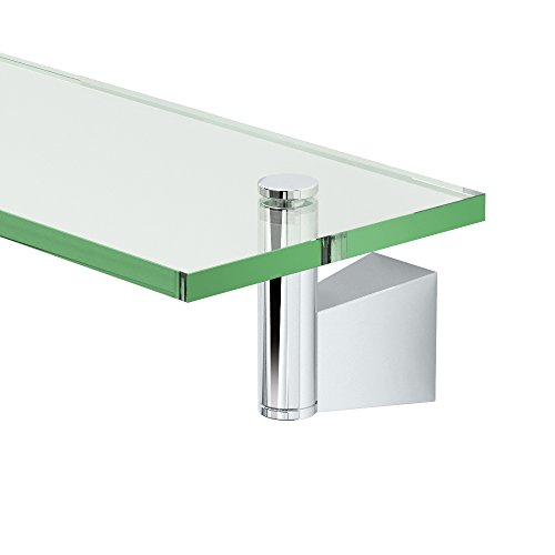 Gatco 4716 Bleu Glass Shelf, Chrome (Shelf Glass Bathroom House)