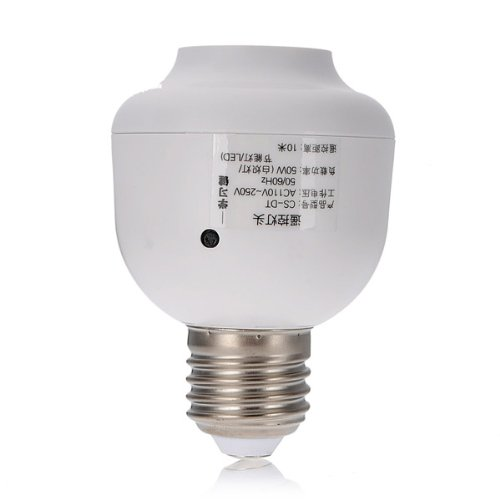 Best-selling E27 to E27 Remote Control Light Bulb Socket AC 110~250V