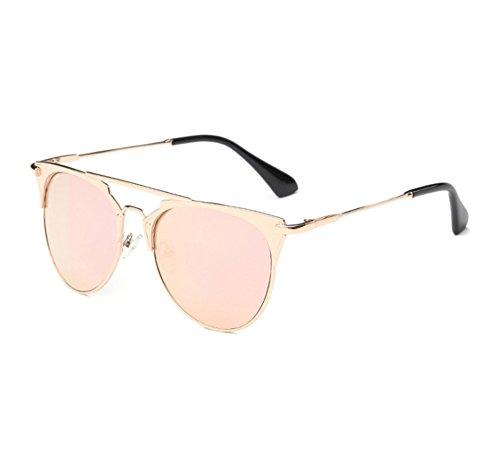 marco UV400 la de Hellomiko polarizadas marco Rosa de las del redondo del a metal protección Forme retro piloto sol no gafas pATaHOqxp