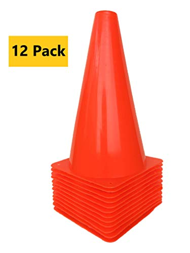 "WOWGEEK 9 inch Orange Plastic Sport Training Traffic Cone 12 Orange Traffic Safety Cones Sign Sport Soccer Football Training Cone Small 9"" (Set of 12) Sports Outdoor Indoor Marker Activity Agility from WOWGEEK"