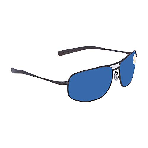 Costa Del Mar Shipmaster Sunglass Brushed Gunmetal/Blue Mirror 580Plastic ()