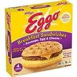 KELLOGGS EGGO BREAKFAST SANDWICH SAUSAGE EGG