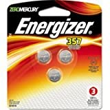 Health & Personal Care : Energizer 357 SR44 Silver Oxide Watch Electronic Battery Bundle of 3