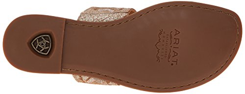 Ariat Womens Copper Creek Toe Ring Sandalo Bianco Stagionato