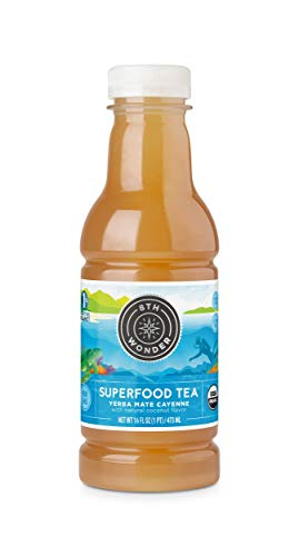 8th Wonder Organic Yerba Mate, All Natural, Low Calorie Superfood Iced Tea |Yerba Mate Cayenne Tea | 16 Fluid Ounce Bottled Tea Pack of 6 | Boost Energy, Reduce Fatigue, Promote Mental Clarity