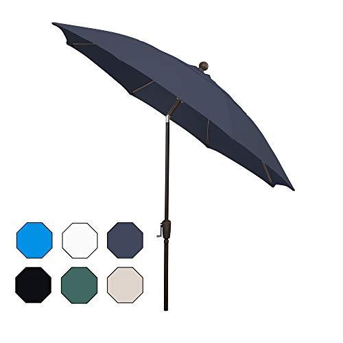 FiberBuilt Umbrellas AZ9HCRCB-T-Navy Blue Patio Umbrella, Navy