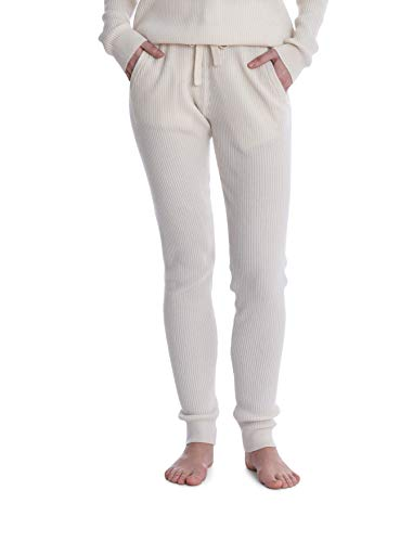 Cashmeren Women's Knitted Loungewear 100% Cashmere Matching Crewneck Sweater/Jogger Pants with Pockets