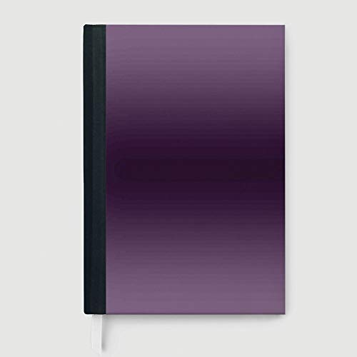 Thick Notebook/Journal,Ombre,Notepad Student Award Gift Decorative Notebooks,Hollywood Glam Show Inspired Color Ombre Design Digital Printed Room Decorations Image,96 Ruled Sheets,A5/8.24x5.73 -