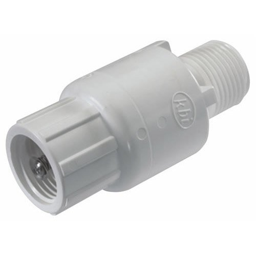 - King Brothers Inc. KC-2000-S 2-Inch Slip PVC Schedule 40 Spring Check Valve, White