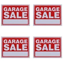 Garage Sale Sign 9 x 12 Inch - 4 Pack