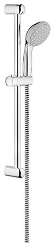 Grohe 27 924 000 New Tempesta 100 Minute//600mm Conjunto de barra de ducha 1 chorro Acero inoxidable