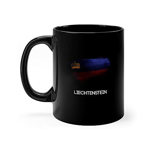 Liechtenstein Flag Made Of Glitter Sparkle Brush Paint Lichtenstein Funny Mugs Cups 11 Oz Ceramic ()
