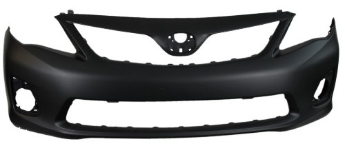 Toyota Corolla 11-13 Front Bumper Cover Primed Except S Model (Toyota Corolla Lighthouse)