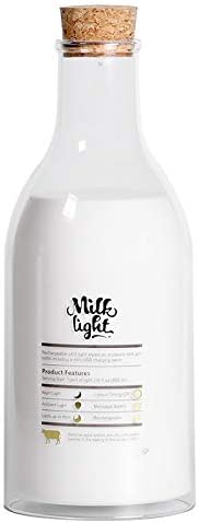 Botella De Leche Mensaje Luz De Noche Sueño Ayuda Atmósfera Pequeña Lámpara De Mesa: Amazon.es: Iluminación