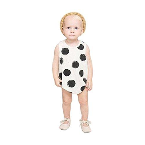 [FEITONG Baby Boys Girls Polka Dot Romper Jumpsuit Bodysuit Clothes (Age 1-2Y)] (Denim Romper Costume)