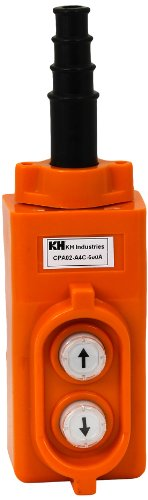 KH Industries CPA02-A4C-000A 2 Push Buttons Pendant Control Switch, Direct controller for single phase 1-HP (Single Hoist Phase)