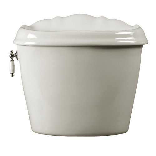 American Standard 4111.016.020 Reminiscence Toilet Tank with Coupling Components and Trim, White by American Standard
