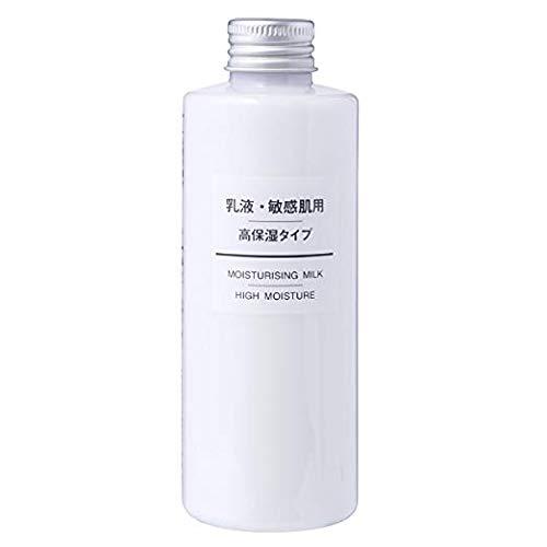 (MUJI Sensitive Skin Moisturizing Milk, High Moisturizing, 200ml)
