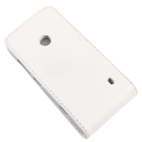 iTALKonline Nokia Lumia 520 / 525 Azul PU Ejecutivo multifunci—n caja de la carpeta del tir—n Vertical Cubierta Organizador Blanco