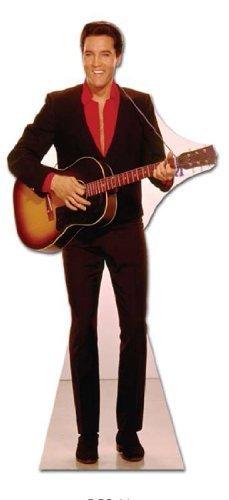 Elvis Presley - Lifesize Cut-Out Guitar hanging from neck by Elvis Presley by Elvis Presley