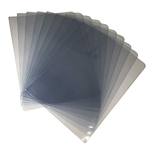 Thick F4 US Legal Size L-Type Plastic Jacket Sleeves Clear Transparent Poly Document Folder Project Pockets File Folder Paper Holder Organizer For Office School And Home 13.6 x 9.3 inches (Pack of 10)