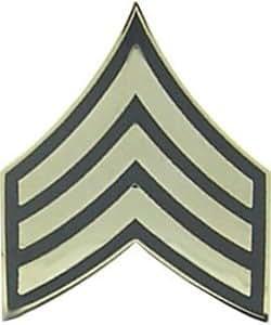 US Army E-5 Sergeant Rank Lapel Pin