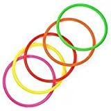 Cosmos 10 pcs Medium Size Plastic Toss Rings for Speed and Agility Practice Games