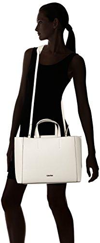 Calvin Klein Metropolitan Tote - Bolsos totes Mujer Gris (Black)