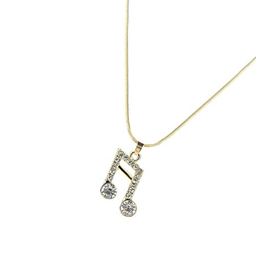 Fancy Musical Note Charms Pendant Necklace Sweater Chain Costume Accessories Necklace Jewelry Crafting Key Chain Bracelet Pendants Accessories Best  Color - Golden