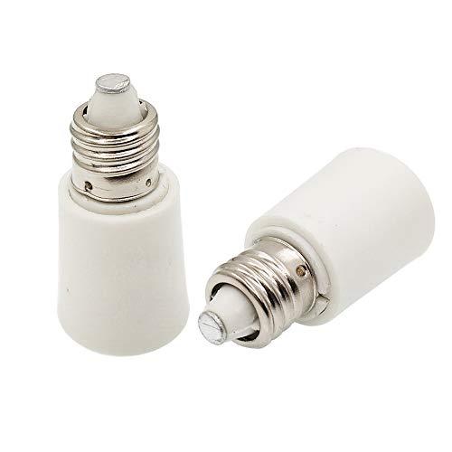E-Simpo E11 to E11 Lamp Socket Adapter, E11 Lamp Socket Extender, E11 to E11 Adapter, E11-E11 Bulb Base Converter LED Light Holder(10pcs E11 to E11 Extender)